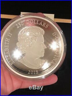 1 Kilo Silver Coin, Canada Maple Leaf 250 Dollars, 2018, 9999