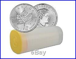 1 x Tube x 25 Canadian Maple Leaf 1 oz Silver Bullion Coin Uncirculated 2012