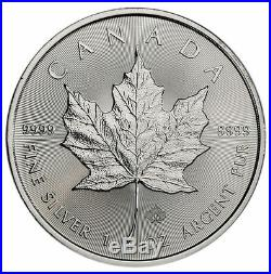 10 2019 Canadian Maple Leaf $5.00 Coins. 9999 Pure Silver BU- Protected