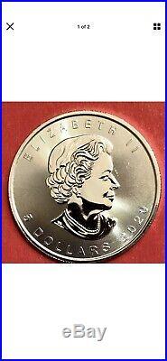 10 Beautiful 2020 1 oz. Silver CANADIAN MAPLE LEAF $5 Coins GEM BU. 9999 Silver