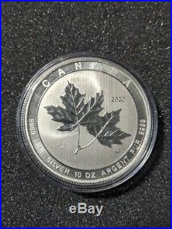 10 oz 2020 Silver Magnificent Maple Leaf Coin Bullion RCM 9999 Free Shipping