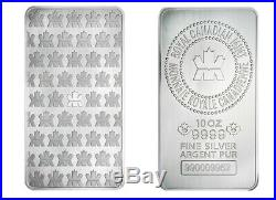 10 oz Silver Maple Leaf Coin. 9999 Pure Ag Royal Canadian Mint