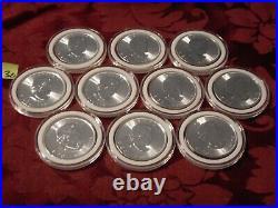 10 ten coin lot 2018 Canada Maple Leaf Silver 1oz BU roll 2018 AirTite capsules