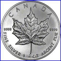 10 x 1 1oz 2012 Silver Canadian Maple Leaf Bullion