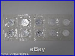 10 x 1990 Canada Maple 1oz 9999 Fine Silver Coin in Original Protective Sleeve