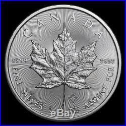 10 x 1oz silver Canadian Maple Leaf 2019