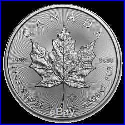 10 x 2020 1oz Silver Maple Leaf 1 ounce silver bullion coin in coin capsules #2