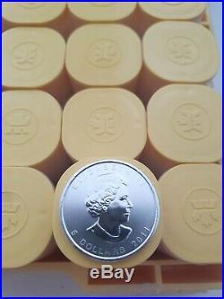 100 Oz Ounces Canada Silver maple bullion Coins 1oz Year 2011