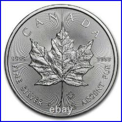 100 x 2020 1oz Silver Maple Leaf Bullion Coins in four Canadian Mint Tubes