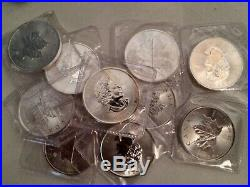 10x 2015 1oz Canadian Maple Leaf Fine Silver Coin. Posted 1st class and insured