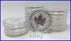 10x 2016 1 oz Canadian Silver Maple Bigfoot Privy Coin (Rev Proof) in Capsule