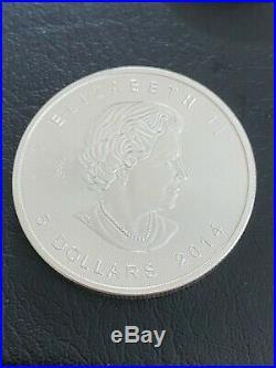 18 x 1oz 2014 Canadian silver Maple leaf coin / bullion Immediate shipment