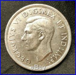 1947 Maple Leaf Canada George VI Silver Dollar Key Date 21,135 Minted Very Nice
