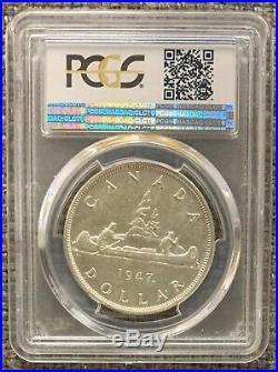 1947 Maple Leaf Canada Silver Dollar PCGS MS-60 Key Date