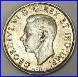 1947 maple leaf Canada silver dollar EF40