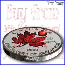 1980-2020 O Canada Maple Leaf 5-Coin Pure Silver Proof Fractional Set