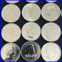 1988-2019 Canada Maple Leaf 23 BU Silver 1 Oz Coin Set w Dansco Album #21F