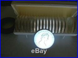 1988 Canada Maple Silver Roll In Rcm Packaging 20 Brilliant Uncirculated Coins