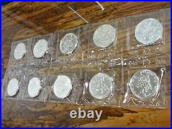 1989 $5 Canada Maple Leaf 1 Troy OZ. 9999 Fine Silver Coin Mint Sealed Lot of 10