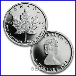 1989 Canada 3-Coin Platinum, Gold & Silver Maple Leaf Proof Set SKU #60379