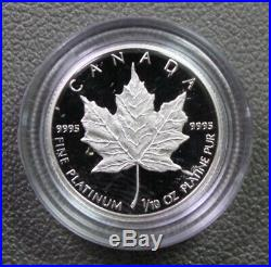 1989 Canada Comm Maple Leaf 3 pc. Gold, Silver, and Platnum Proof Set with box coa