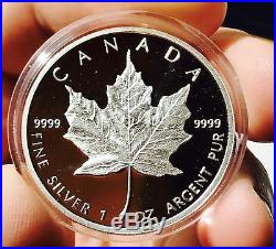 1989 Canada Silver Maple Leaf Proof, 10th Year Commemorative Collector Coin COA