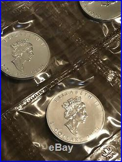 1990 $5 Canada Maple Leaf 1oz. 9999 Fine Silver BU Mint Sealed 20 Coins