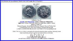 1990 CANADA UK Queen Elizabeth II MAPLE LEAF 1OZ Prooflike Silver $5 Coin i86931