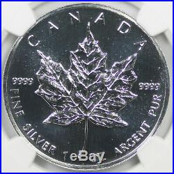 1992 Canada Maple Leaf Silver $5 MS 69 NGC