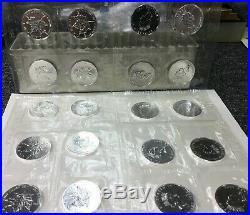 1992 Canadian Maple Leaf Sheet of TEN 1oz Silver 9999 LEAFS Sealed in OG Sheet
