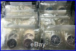 1993 (1) Uncut Sheet Of 10 $5 Uncirculated. 9999 Silver Canadian Maple Leafs