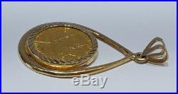 1994 Canada 1/10 oz Gold Maple Leaf Queen Elizabeth II Coin with Teardrop Pendant