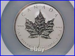 1998 $50 CANADA 10oz Maple Leaf 10th Ann. Silver. 9999 NGC M67 ECC&C, Inc