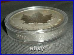 1998 CANADA $50 10 Oz. 9999 SILVER COIN 10th Anniversary Maple Leaf with. 925 COA
