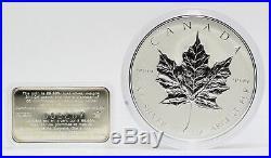 1998 Canada 10 oz Maple Leaf Silver 9999 Fine Coin 10th Anniversary JJ029