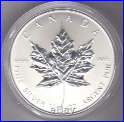 1998 Canada $50 Silver Maple Leaf 10th Anniversary 10 oz. 9999