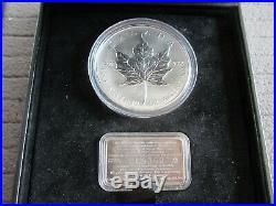 1998 Canada $50 Silver Maple Leaf 10th Anniversary 10 oz. 9999 +COA & BOX