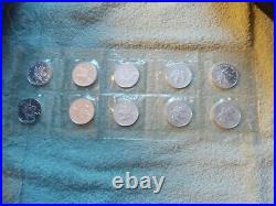1998 Canada SILVER Maple 1 oz BU in Original Mylar (10 coin sheet)