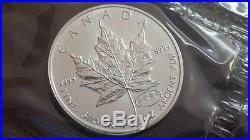 1999 2000 Canada 1 oz Silver Maple Leaf Millennium Privy Fireworks sheet of 10oz