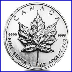 1999 Canada Original sheet if 10 x 1 oz mint sealed $5 99.99% Silver Maple Leaf