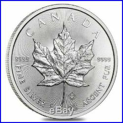 1oz Canadian Silver Maple Leaf 2020 Full tube 25 coins