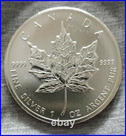 20 x 1oz 2012 SILVER CANADIAN MAPLE LEAF COINS