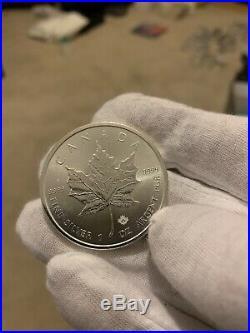 20 x 1oz 2015 Canadian Mint Maple Leaf troy ounce 999 Silver Bullion 31.1g Coin