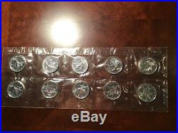 2000.9999 Fine Silver CANADIAN Maple Leafs FIREWORKS PRIVEY MINT SHEET OF 10