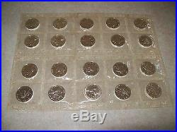 2001 Canada Maples. 999 Silver, Mint Sealed Roll Of 20 Coins, Low Mintage Maples