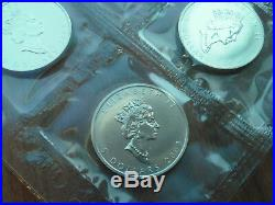 2003 20 Canadian Silver Maple Leafs 1 Troy Ounce Each FREE SHIPPING