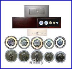 2003 Canada 5 Coin Silver Maple Leaf Hologram Set OGP WithCOA