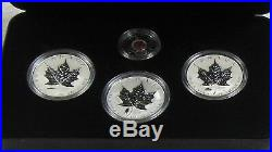 2004 & 2005 Canada Silver Maple Legacy of Liberty WW II Commemorative 4 Coin Set