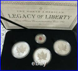 2004 2005 Maple Leaf Privy Set of 3 x 1 oz. 9999 Silver Coins with COA & Box