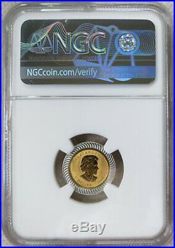 2004 Canada 25th Anniv. 1/20 oz. Gold Maple Leaf Silver Bimetallic NGC MS 69